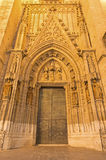 Sevilel - The portal Puerta de Bautismo from 15. cent by N. Martinez and J. Norman on the Cathedral de Santa Maria de la Sede. Stock Images