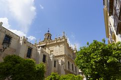 Sevilha andalusia A arquitetura da catedral Capilla San Jose foto de stock royalty free