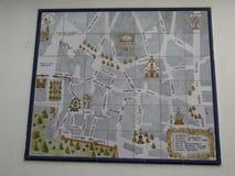 Sevilha, Espanha - 26 de janeiro de 2019 - mapa de estradas do mosaico fotografia de stock