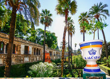 SEVILHA, ESPANHA, O 16 DE OUTUBRO DE 2012: Jardim em Alcazars reais de S Foto de Stock Royalty Free