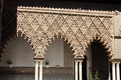 Sevilha, palácio real do Alcazar imagens de stock royalty free
