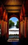 Sevilha, Plaza de Espana fotografia de stock