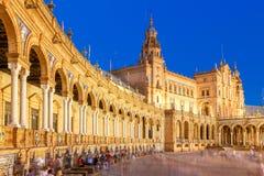 Sevilha Quadrado espanhol imagem de stock