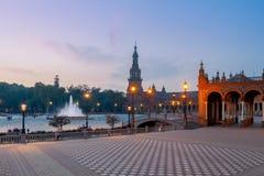 Sevilha Quadrado espanhol foto de stock