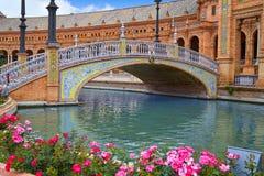 Sevilha Sevilla Plaza de Espana Andalusia Spain imagem de stock royalty free