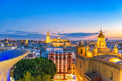 Sevilha, skyline da Espanha fotografia de stock royalty free