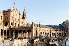 Sevilha, Spain Em dezembro de 2015 Ideia da arquitetura clássica fotos de stock royalty free