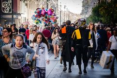 Sevilha, Spain Em dezembro de 2015 O músico espanhol tradicional sabe Imagens de Stock