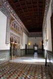 Sevilla, Alcazar verdadero adornó el pasillo Imagenes de archivo