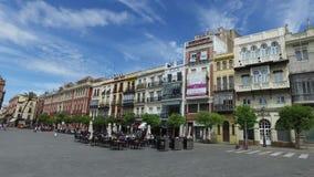 Sevilla, Andalucía, España - 18 de abril de 2016: Plaza de San Francisco almacen de video