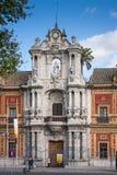 Sevilla, Andalucía, España - San Telmo Baroque Portal fotos de archivo