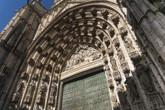 Sevilla Andalucia, Spain: cathedral door Stock Image