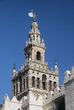 Sevilla Andalucia, Spain: Giralda, cathedral belfry. Sevilla Andalucia, Spain: the Giralda, belfry of the cathedral stock image