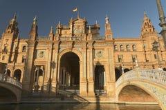 Sevilla Andalucia, Spain: Plaza de Espana Stock Images