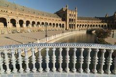 Sevilla Andalucia, Spanien: Plaza de Espana Lizenzfreies Stockbild