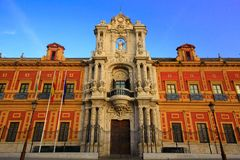 Sevilla, Andalusia, Spagna - 15 marzo 2015 - palazzo di San Telmo Siviglia fotografia stock libera da diritti