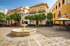 Sevilla in Andalusia, Spain - Architecture barrio Santa Cruz district. Seville, Spain - Architecture barrio Santa Cruz district stock photography