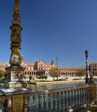 Sevilla, Andalusia, Spanje Plaza DE Espana, Spaans vierkant Stock Afbeelding