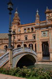 Sevilla, Andalusien, Spanien Plaza de Espana, spanisches Quadrat Lizenzfreies Stockfoto