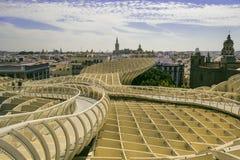 Sevilla-Ansicht vom Metropol-Sonnenschirm Lizenzfreies Stockbild