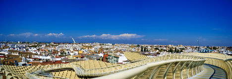 Sevilla-Ansicht vom Metropol-Sonnenschirm Lizenzfreie Stockfotos