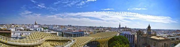 Sevilla-Ansicht vom Metropol-Sonnenschirm Stockfoto