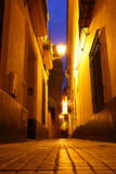 Sevilla bij nacht royalty-vrije stock foto's