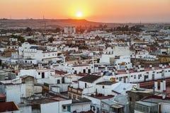 Sevilla bij zonsondergang Royalty-vrije Stock Foto