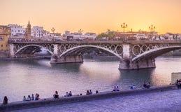 Sevilla-Brücke Stockbilder