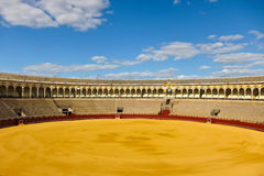 Sevilla bull arena. Empty bull arena in Sevilla Royalty Free Stock Image