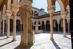 Sevilla, Casa de Pilatos Patio foto de archivo