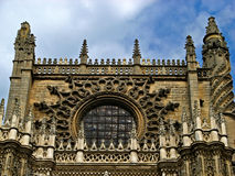 Sevilla, Cathedral 06. The massive gothic Cathedral of Sevilla in Sevilla, Spain Royalty Free Stock Photo