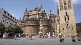 Sevilla Cathedral stock footage