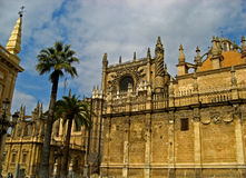 Sevilla, Cathedral 13. The massive gothic Cathedral of Sevilla in Sevilla, Spain stock photos