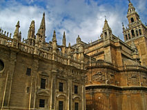Sevilla, Cathedral 14. The massive gothic Cathedral of Sevilla in Sevilla, Spain royalty free stock photography
