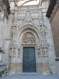 Sevilla Cathedral Doorway Entrance Stock Photos