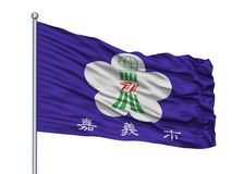 Sevilla City Flag On Flagpole, Spagna, isolata su fondo bianco royalty illustrazione gratis