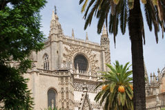 Sevilla Cityscape, Andalusia, Spain. View of Cathedral. Royalty Free Stock Images
