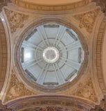 Sevilla - de koepel van barokke Kerk van El Salvador (Iglesia del Salvador) Royalty-vrije Stock Foto's