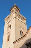 Sevilla - de toren van de kerk van San Marcos Stock Afbeeldingen