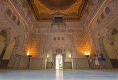 Sevilla - der Hall von Botschaftern im Alcazar von Sevilla Stockfotografie