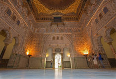Sevilla - der Hall von Botschaftern im Alcazar von Sevilla Lizenzfreies Stockfoto
