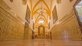 Sevilla - der Korridor des gotischen Palastes im Alcazar von Sevilla Stockfoto