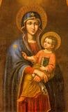 Sevilla - die Farbe von Madonna im Kirche Iglesia De Santa Maria Magdalena durch unbekannten Maler Stockfotos