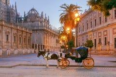 Sevilla Domkyrka i ottan Royaltyfria Foton