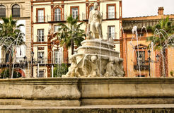 Sevilla España. Source door Jerez, Sevilla Spain Royalty Free Stock Image