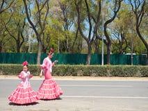 Sevilla, España - 23 de abril de 2015: Familia española Foto de archivo