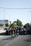 SEVILLA, ESPAÑA - 26 DE AGOSTO DE 2015: Bici de los corredores en el championsh Imágenes de archivo libres de regalías