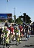 SEVILLA, ESPAÑA - 26 DE AGOSTO DE 2015: Bici de los corredores en el championsh Imagen de archivo libre de regalías