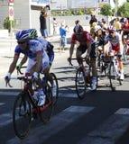 SEVILLA, ESPAÑA - 26 DE AGOSTO DE 2015: Bici de los corredores en el championsh Imagen de archivo